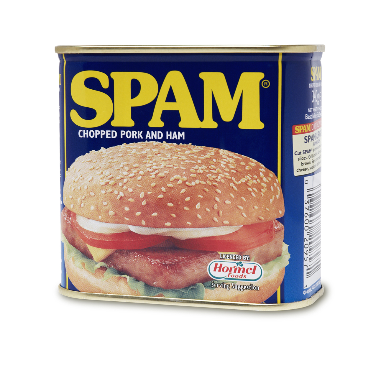 Spam chopped pork and ham tin